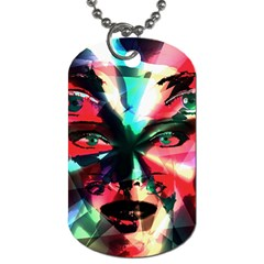 Abstract Girl Dog Tag (one Side) by Valentinaart
