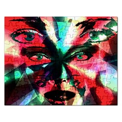 Abstract Girl Rectangular Jigsaw Puzzl by Valentinaart