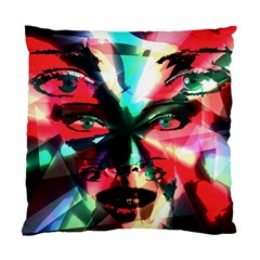 Abstract Girl Standard Cushion Case (one Side) by Valentinaart