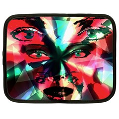 Abstract Girl Netbook Case (xl)  by Valentinaart