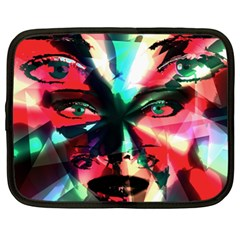 Abstract Girl Netbook Case (xxl)  by Valentinaart
