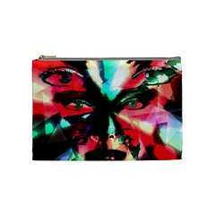 Abstract Girl Cosmetic Bag (medium)  by Valentinaart