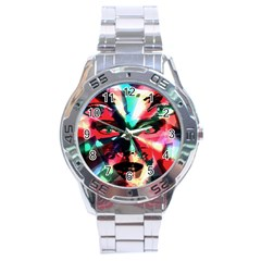 Abstract Girl Stainless Steel Analogue Watch by Valentinaart