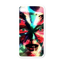 Abstract Girl Apple Iphone 4 Case (white) by Valentinaart