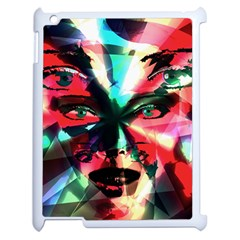 Abstract Girl Apple Ipad 2 Case (white) by Valentinaart