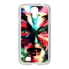 Abstract Girl Samsung Galaxy S4 I9500/ I9505 Case (white) by Valentinaart