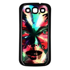 Abstract Girl Samsung Galaxy S3 Back Case (black) by Valentinaart