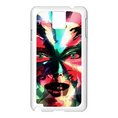 Abstract Girl Samsung Galaxy Note 3 N9005 Case (white) by Valentinaart