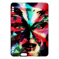 Abstract Girl Kindle Fire Hdx Hardshell Case by Valentinaart
