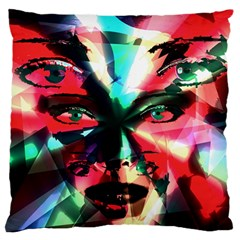 Abstract girl Standard Flano Cushion Case (One Side) by Valentinaart
