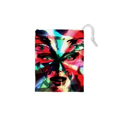 Abstract Girl Drawstring Pouches (xs)  by Valentinaart