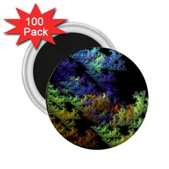 Fractal Forest 2 25  Magnets (100 Pack)  by Simbadda