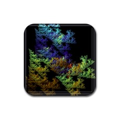 Fractal Forest Rubber Coaster (square)  by Simbadda