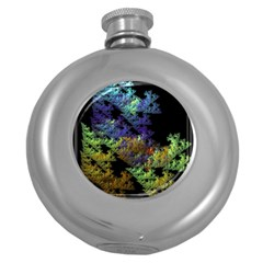 Fractal Forest Round Hip Flask (5 Oz) by Simbadda