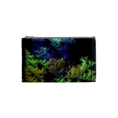 Fractal Forest Cosmetic Bag (small)  by Simbadda