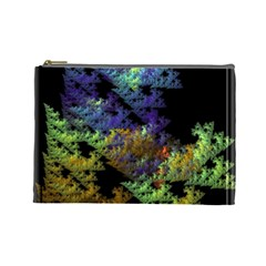 Fractal Forest Cosmetic Bag (large)  by Simbadda