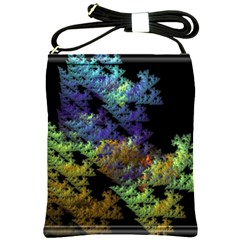 Fractal Forest Shoulder Sling Bags by Simbadda