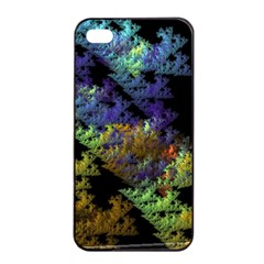 Fractal Forest Apple Iphone 4/4s Seamless Case (black) by Simbadda