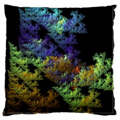 Fractal Forest Large Cushion Case (two Sides) by Simbadda