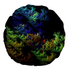 Fractal Forest Large 18  Premium Round Cushions by Simbadda
