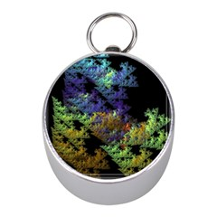 Fractal Forest Mini Silver Compasses