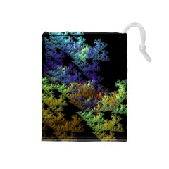 Fractal Forest Drawstring Pouches (medium)  by Simbadda