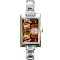 Fractal Tiles Rectangle Italian Charm Watch by Simbadda