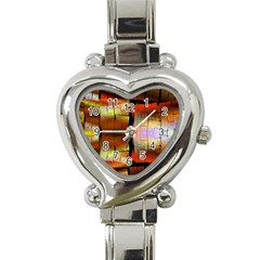 Fractal Tiles Heart Italian Charm Watch by Simbadda