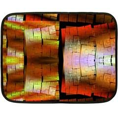 Fractal Tiles Double Sided Fleece Blanket (mini)  by Simbadda