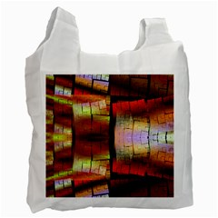 Fractal Tiles Recycle Bag (two Side)  by Simbadda