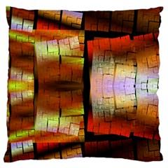 Fractal Tiles Large Cushion Case (two Sides) by Simbadda