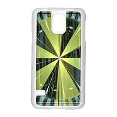 Fractal Ball Samsung Galaxy S5 Case (white) by Simbadda