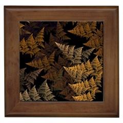 Fractal Fern Framed Tiles by Simbadda