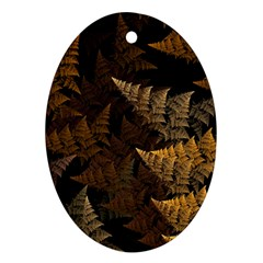 Fractal Fern Ornament (oval) by Simbadda