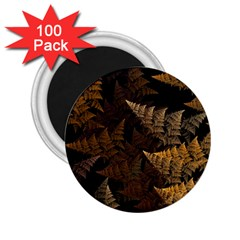 Fractal Fern 2 25  Magnets (100 Pack)  by Simbadda