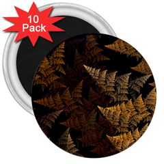 Fractal Fern 3  Magnets (10 Pack)  by Simbadda