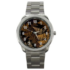 Fractal Fern Sport Metal Watch by Simbadda