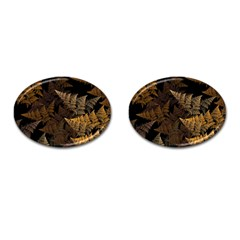 Fractal Fern Cufflinks (oval) by Simbadda