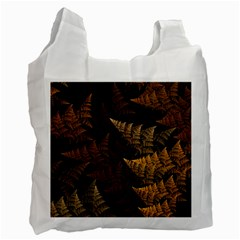 Fractal Fern Recycle Bag (one Side) by Simbadda