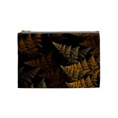 Fractal Fern Cosmetic Bag (medium)  by Simbadda