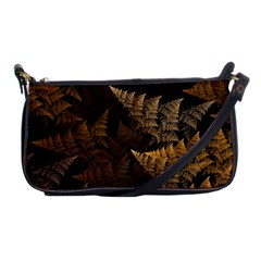 Fractal Fern Shoulder Clutch Bags by Simbadda
