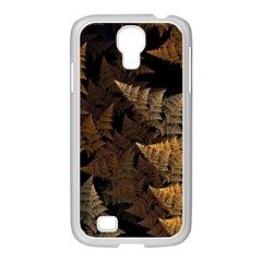 Fractal Fern Samsung Galaxy S4 I9500/ I9505 Case (white) by Simbadda