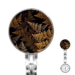 Fractal Fern Stainless Steel Nurses Watch by Simbadda