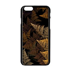 Fractal Fern Apple Iphone 6/6s Black Enamel Case by Simbadda