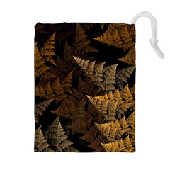 Fractal Fern Drawstring Pouches (extra Large) by Simbadda