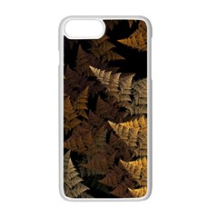 Fractal Fern Apple Iphone 7 Plus White Seamless Case by Simbadda