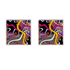 Fractal Roots Cufflinks (square) by Simbadda