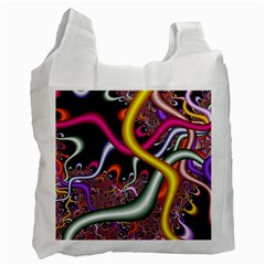 Fractal Roots Recycle Bag (two Side)  by Simbadda