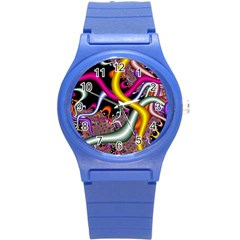 Fractal Roots Round Plastic Sport Watch (s) by Simbadda