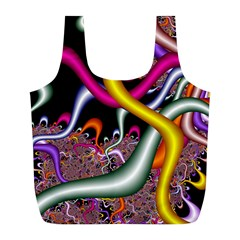 Fractal Roots Full Print Recycle Bags (l)  by Simbadda